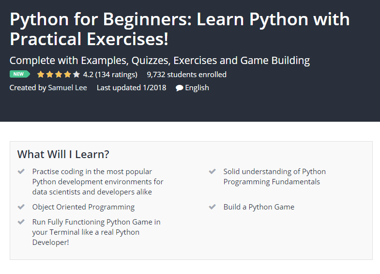 Python for Beginners Learn Python with Practical Exercises Udemy